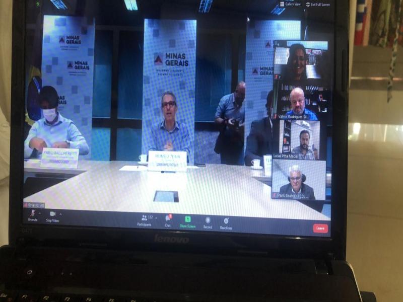Presidente da ACEAP participou de reunião online com Governador Romeu Zema